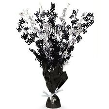 "16"" Happy 30th Birthday Black Sparkle Foil Weight Table Centerpiece Decoration"