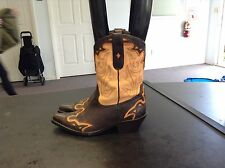 Sonora Brown & Apricot Leather Western Boots Womens Size 7 M