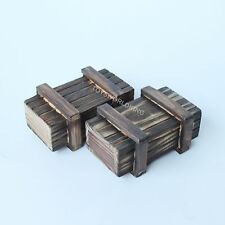 """2 OF 1/6 Scale Wooden Crate Weapon Box Unopenable Model Fits 12"""" Action Figures"""