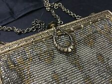 ANTIQUE VICTORIAN BEADED PURSE MADE IN FRANCE
