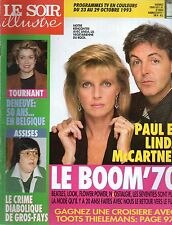 LE SOIR illustré N°3200 paul mccartney catherine deneuve 1993
