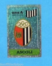 PANINI CALCIATORI 1989/90 -Figurina n.3- SCUDETTO - ASCOLI -Recuperata