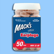 100 Mack's Ultra Soft Foam Earplugs NRR 32 dB PZN 70704 Ohrstöpsel