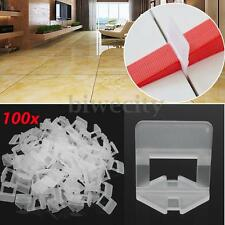 100 x Tile Leveling System Levelling Clips Spacer Plastic Tiling Tools 1.5mm