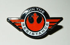 Star Wars The Force Awakens Join The Resistance Rebel Logo Metal Pin NEW UNUSED