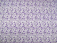 Meadow Lilac Flowers Polycotton Prints Dress Fabric SOLD PER METRE