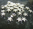 200 x Tiny Antique Silver Tone Star Beads 6mm