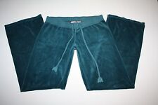 JUICY Couture Emerald Green Velour Drawstring Waist Pants Size Large