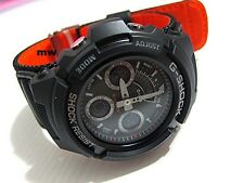 Casio G-Shock Men Black Strap Red Eye Alarm Watch AW-591MS-1ADR  AW-591MS-1A