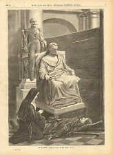 Catholic Nun, Soldier, With The Dead, Franco-Prussian, 1871 German Antique Print