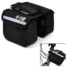 New Bicycle Mountain MTB Bike Bag Pouch Front Tube Handlebar Pannier Saddle BK-6
