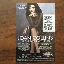 Joan Collins of Dynasty/ John Tesh  ad/flyer  previous  NYC  BB.Kings concert