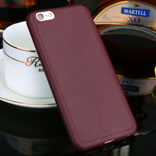 Ultrathin Leather TPU Soft Back Case Cover Matte For Apple iPhone 6 6s wine red