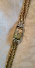 Vintage Estate Solid 14k Gold & Diamond Elgin Ladies Watch Jewelry .50tcw Mesh