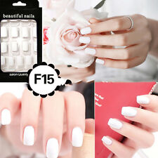 24Pcs French Acrylic False Fake Nail Art Fingernail Full Tips Lovely