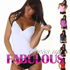 NEW SEXY 6 8 10 WOMEN'S STRETCH TOP SINGLET SHIRT LATEST CASUAL CLUBBING XS S M