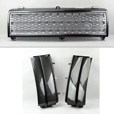 Range Rover 03-05 Mesh Gunmetal Front Bumper Hood Grill w/ Side Fender Vents