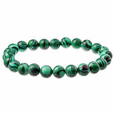 Green Malachite Gemstone Men's Bead Bracelet 6mm by Urban Male Jewellery