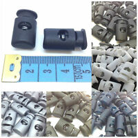 Toggle Cylinder Cord Lock End Spring Stopper - 7 Colours in Packs of 2/5/10/20