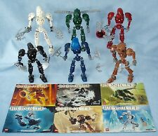 2004 Lego Bionicle TOA METRU NUI (8601- 8606) Complete with Instruction Manuals