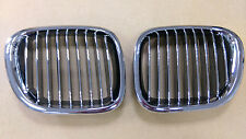 Front Kidney Grilles Chrome-Black for BMW Z3 1996-2002 Convertible/Coupe