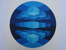 BRIAN HALSEY SUITE 6 MANDALAS 39/75 MID CENTURY MODERN OP ART 1977 ABSTRACT