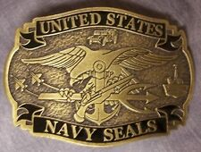 Military Belt Buckle pewter U S Navy SEALS NEW Made in the USA