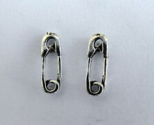 Pair  Of  Sterling  Silver  925  Safety Pin Ear  Studs  !!    Brand  New  !!