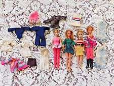 COLLECTION OF FOUR VINTAGE DAWN DOLLS BY TOPPER W CLOTHES AND BOOTS