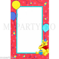 Winnie the Pooh Imprintable Invitation or Note Card  Birthday Party Supplies