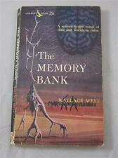 MEMORY BANK WALLACE WEST 1962 AIRMONT #SF1 1ST ED PAPERBACK PB
