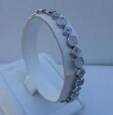 925 STERLING SILVER LADIES TENNIS BRACELET W/ 3 CTS DIAMOND / 7'' LONG/ELEGANT