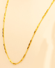 22k gold Link / Baht necklace chain handmade from Thailand   20""