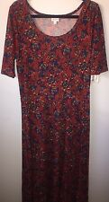 Lularoe Ana Size 2xl Burgundy Floral Dress New NWT Gorgeous