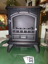 Duraflame DFS-500-4 Thomas Electric Stove with Flickering Logs & Heater Black
