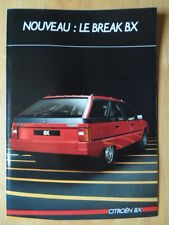 CITROEN BX Estate 1985 French Mkt sales brochure