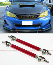 Red Adjustable Front Bumper Lip Splitter Strut Rod Tie Support Bar For Chevy