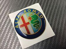 1 Adesivo Stickers ALFA ROMEO New Color 74 mm 3D resinato auto