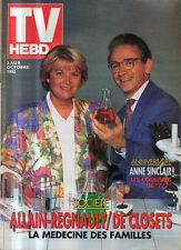 TV hebdo 02/10/1992 anne sinclair allain-regnault