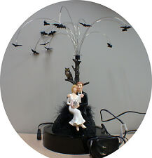 ANIMATED Night Bats Wedding Cake Topper centerpiece Halloween Sexy Black Funny