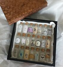 Witch's Glass Spell/Potion Bottles & copper Wooden Box Pagan Wiccan