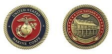 """BIRTHPLACE OF THE MARINE CORPS 1775 TUN TAVERN MILITARY 1.75""""  CHALLENGE COIN"""