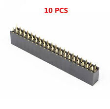 10Stk  2x20 40Pin Double Row Female Straight Header 2.54mm Pitch Socket Zubehör