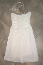 210  Victorias Secret/ Moda White Sexy Halter Dress 12 Bridal Cocktail Formal