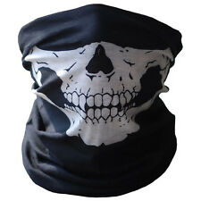 Bicycle Ski Skull Half Face Mask Ghost Scarf Multi Use Neck Warmer Face Mask