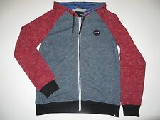 New Hurley Mens Slide Krush French Terry Fullzip Fleece Hoodie Medium