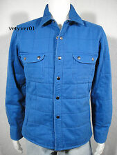 LUCKY BRAND California Fit Padded Quilted Cotton Shirt Jacket Royal Blue size S