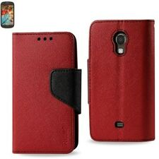 For Samsung Galaxy Light T399 -PU Leather Card Wallet Holder Flip Pouch Case RED