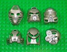 Rare PEARL SILVER - All 6 Original Toa Kanohi - Lego Bionicle Mask Set