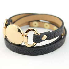 Leather Engraved Cuff Bracelet Men Women Monogram Blank Wrap Leather Bracelet